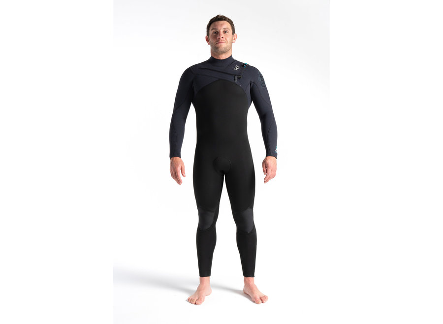 C-Skins Rewired 5/4 Heren Wetsuit Black/BlackX/UltraCyan
