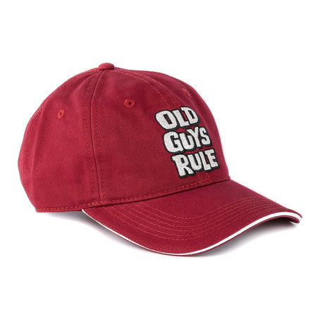 Old Guys Rule Old Guys Rule Stacked Logo Cap Cardinal Red