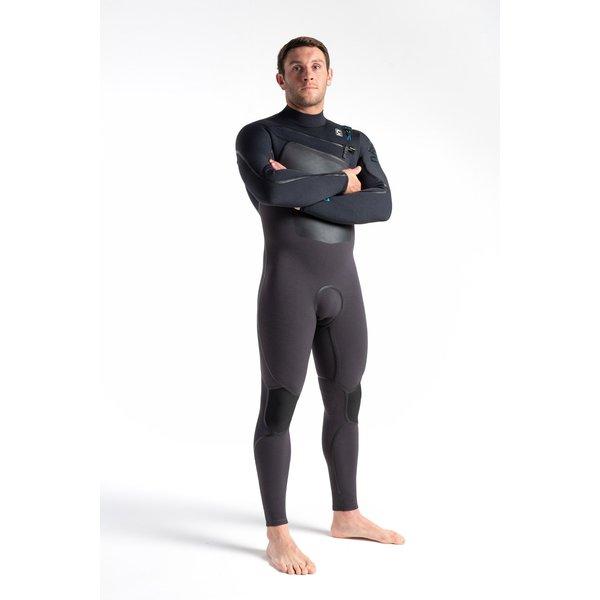 C-Skins Wired 4/3 LQS Heren Wetsuit Meteor X/Black X