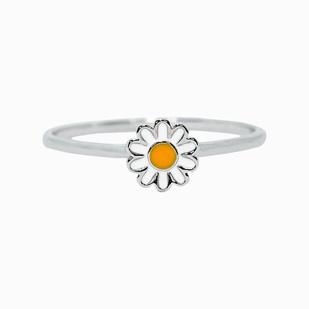 Pura Vida Daisy Ring Silver