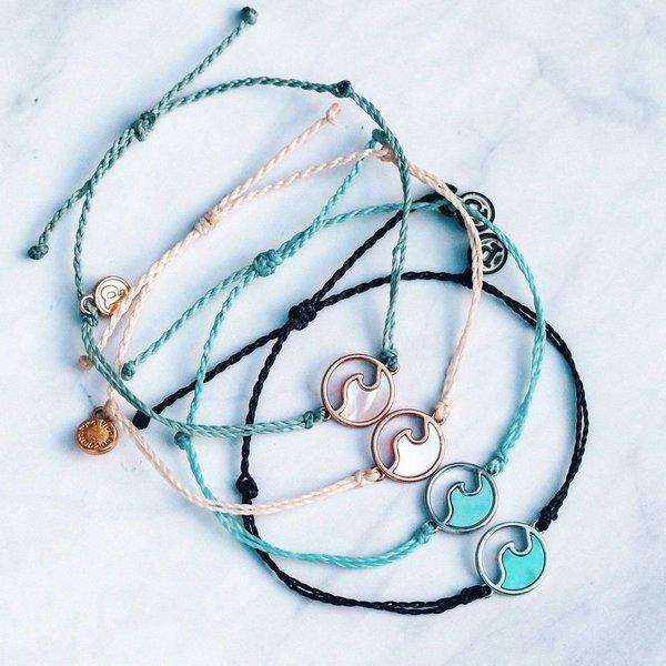Pura Vida Stone Wave Bracelet Silver