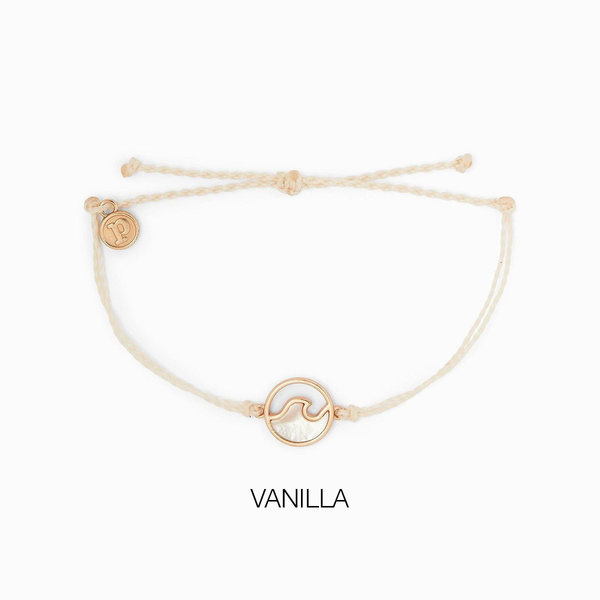 Pura Vida Stone Wave Bracelet Rose Gold