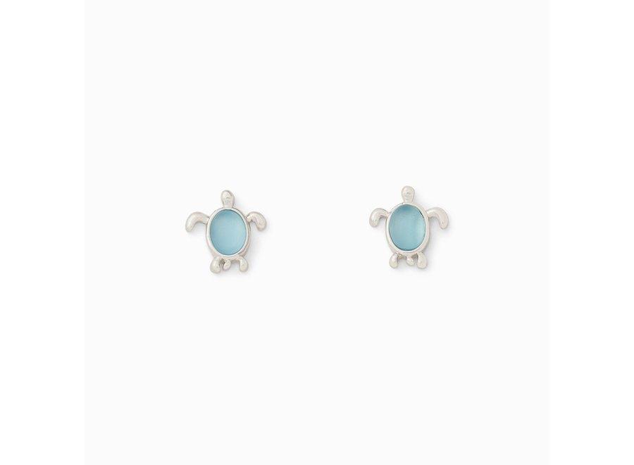 Pura Vida Sea Turtle Stud Earrings Silver