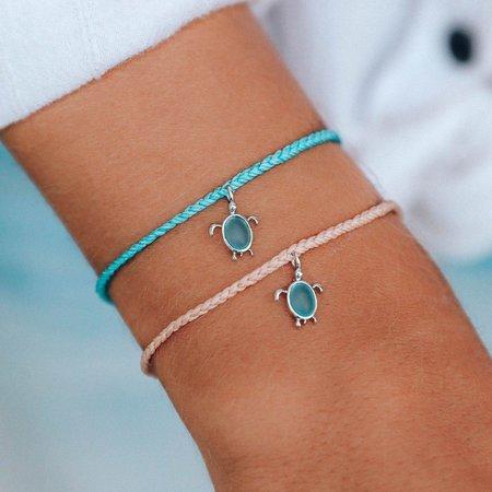 Pura Vida Sea Turtle Bracelet Silver