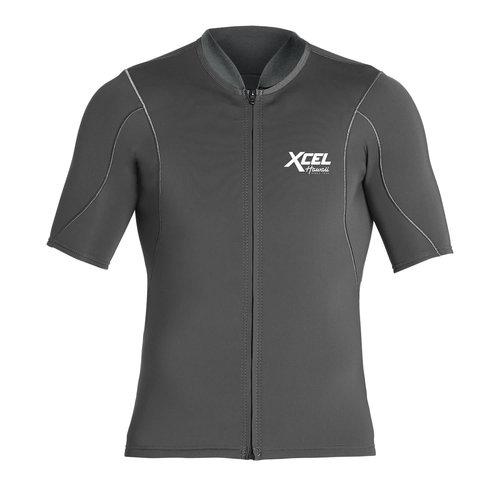 Xcel 1/0.5mm Short Sleeve Front Zip Wetsuit Top Graphite