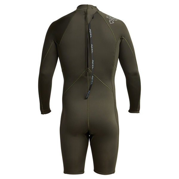 XCEL 2mm Axis Long Sleeve Shorty Wetsuit Dark Forest