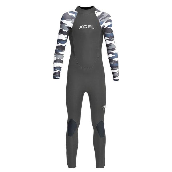 XCEL 3/2 Kids Axis Back Zip Wetsuit Graphite