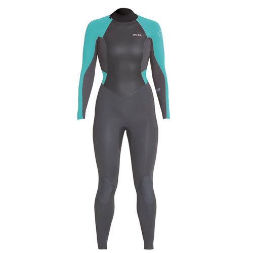 Xcel 3/2 Womens Axis Back Zip Wetsuit Graphite