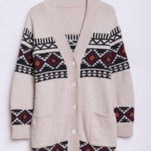 Sisstrevolution Sisstrevolution Dames Imala Upcycled Sweater Sand