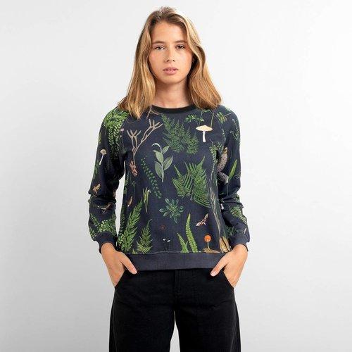Dedicated Dedicated Dames Ystad Raglan Sweatshirt Secret Garden Multi Color