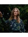 Dedicated Dames Ystad Raglan Sweatshirt Secret Garden Multi Color