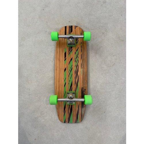 Sharkfin Sharkfin Cruiser Skateboard Green Stripes