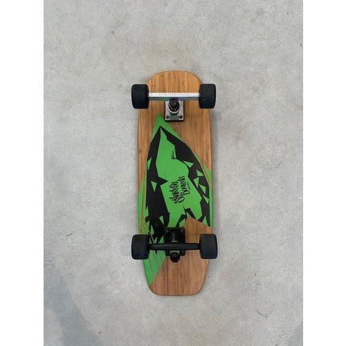 Sharkfin Sharkfin Cruiser Skateboard Green Black