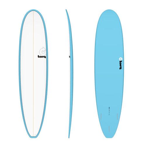 "Torq Torq Longboard Blue White Deck 8'0"""