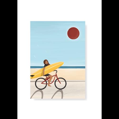 StudioTrev Postcard Girl On A Bike By Trevor Humphres