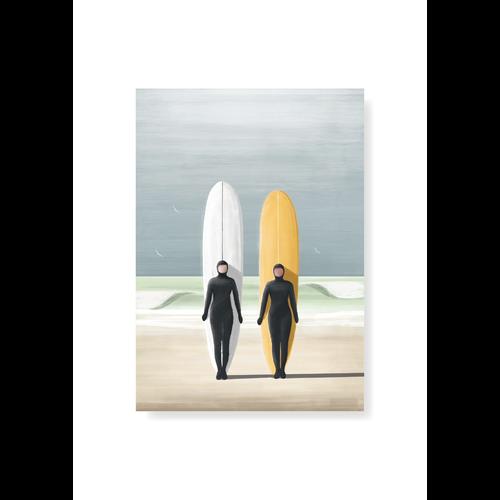 StudioTrev Postcard Surfergirls Winter By Trevor Humphres