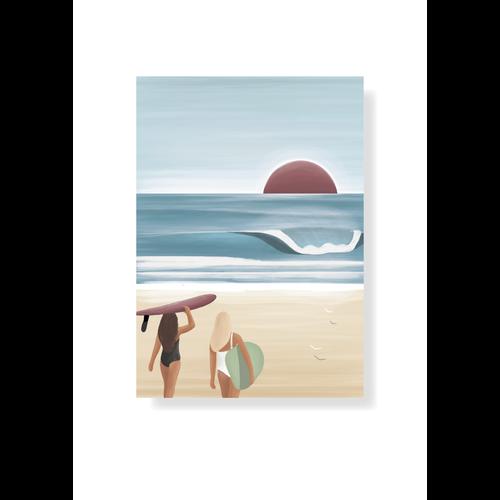 StudioTrev Postcard Surfergirls Summer By Trevor Humphres