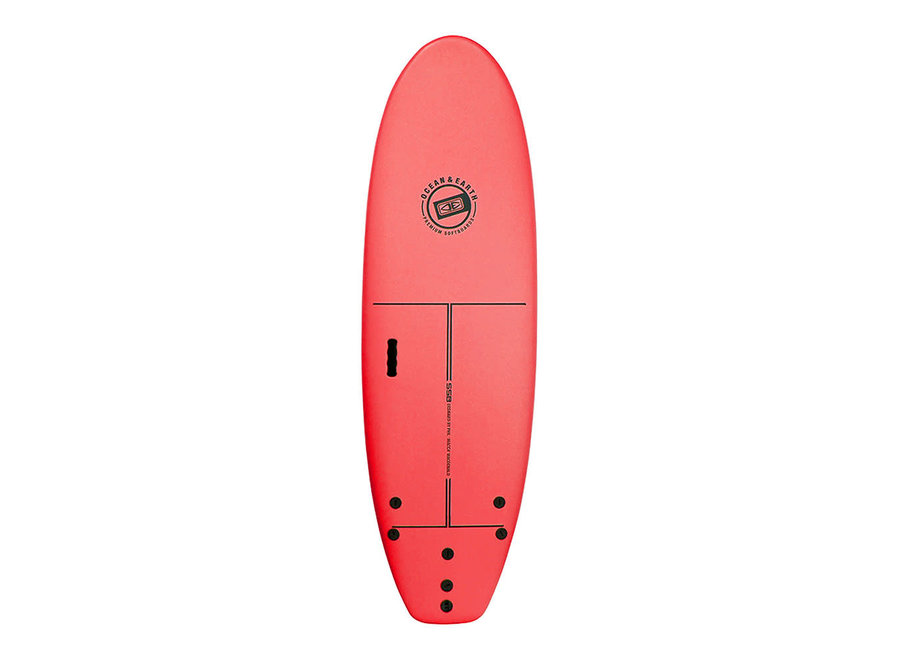 OCEAN & EARTH 6'0 School Softboard Red