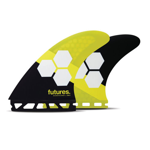 Futures Fins FUTURES FINS Am2 Honeycomb Size Large Fins Yellow