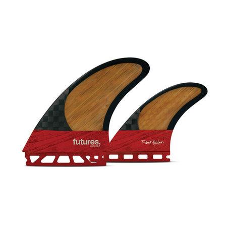 Futures Fins FUTURES FINS Machado Twin+1 Blackstix Red