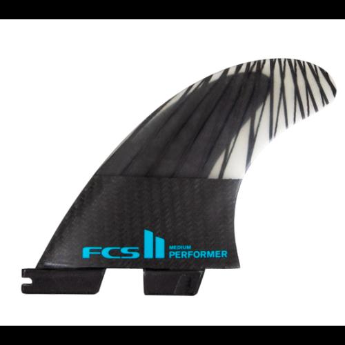 FCS FCS II Performer PC Carbon Thruster Fins Black/Teal