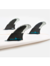 FCS II Performer PC Carbon Thruster Fins Black/Teal