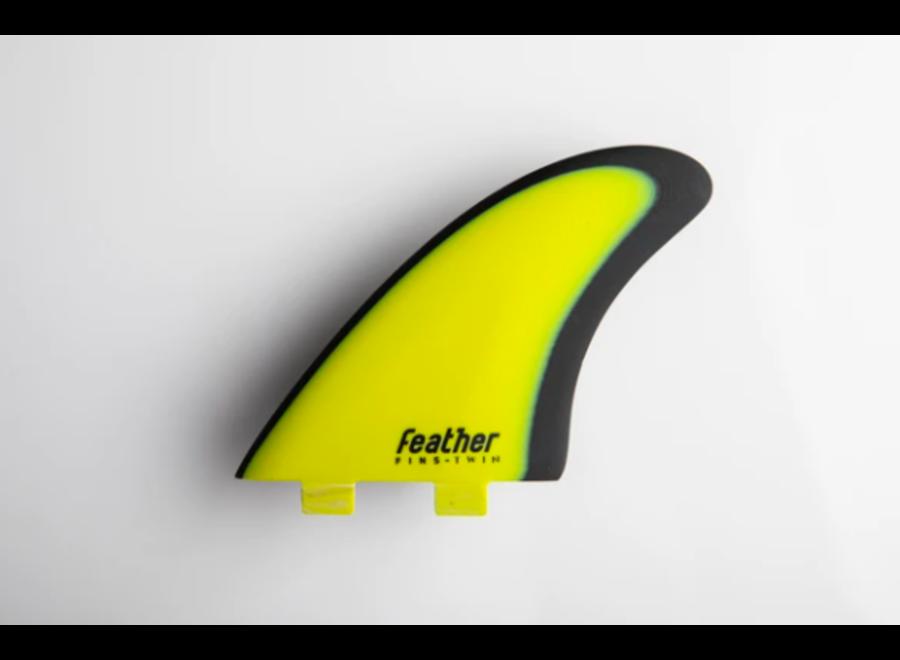 Feather Fins Dual Tab Modern Keel Fins Yellow/Black