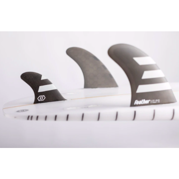 Feather Fins FCS Performance Twin + 1  Black