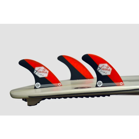 Feather Fins Feather Fins FCS Signatures Jonathan Gonzalez Thruster Fins Red