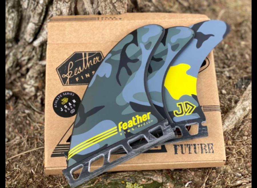 Feather Fins Single Tab Signatures Joan Duru HC Thruster Fins