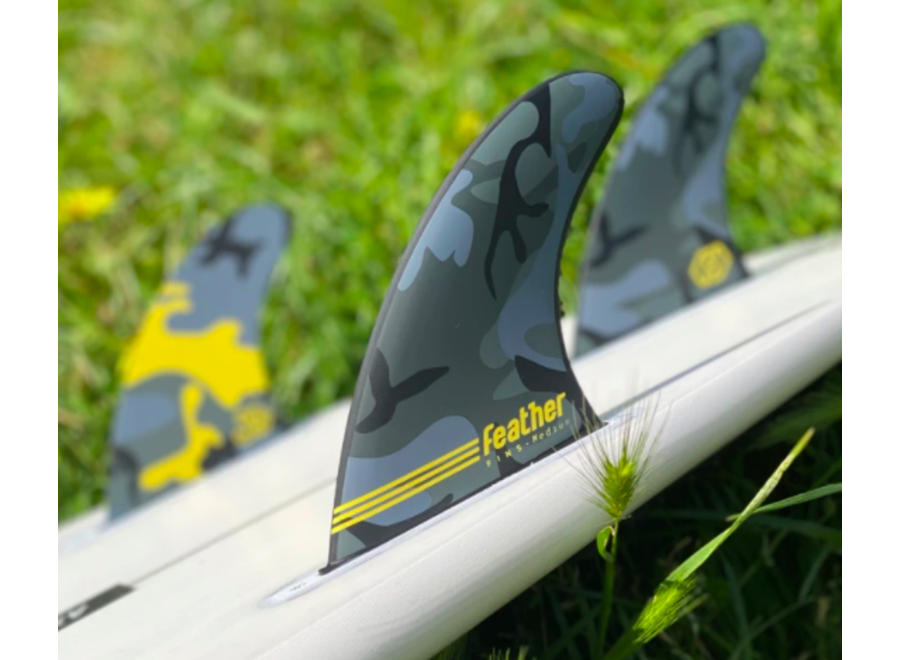Feather Fins Dual Tab Signatures Joan Duru HC Thruster Fins
