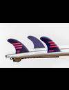 Feather Fins Futures Ultralight HC Thruster Fins Purple/Pink