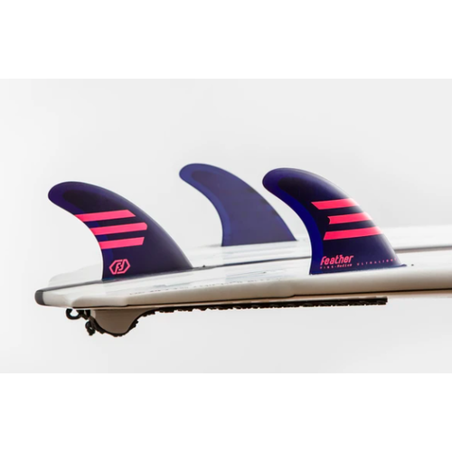 Feather Fins Feather Fins Futures Ultralight HC Thruster Fins Purple/Pink
