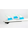 Feather Fins FCS Ultralight HC Thruster Fins Blue/White