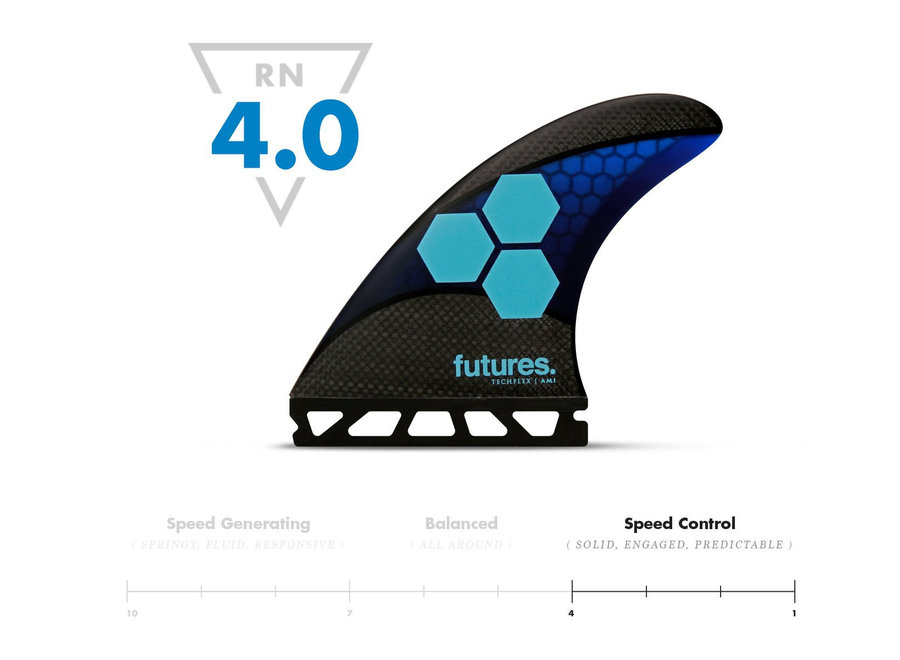 FUTURES FINS Am1 Techflex Blue