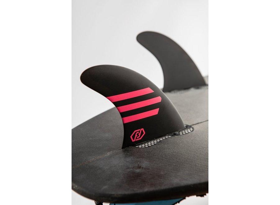 Feather Fins Click Tab Ultralight Epoxy HC Thruster Fins Black/Burgundy