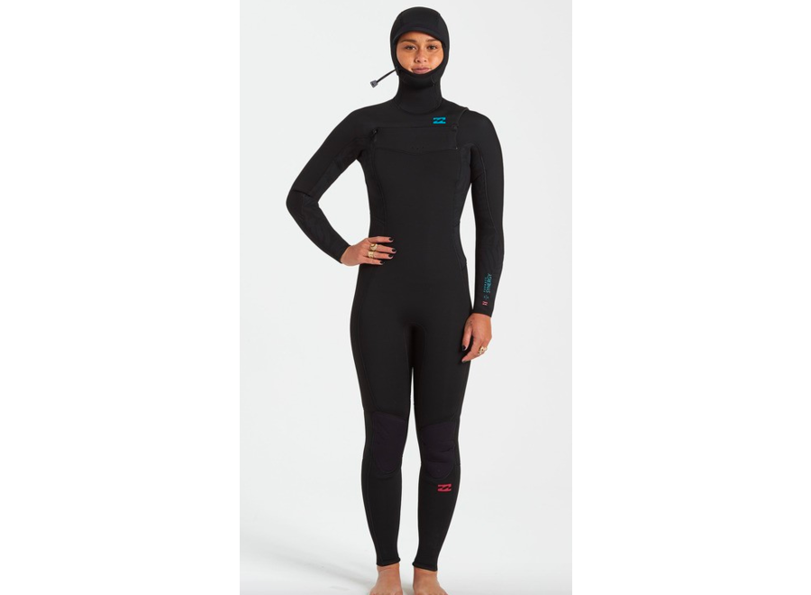Billabong 5/4 Furnace Synergy Dames Hooded Winter Wetsuit Black