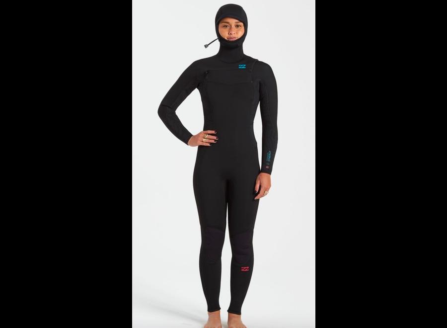 Billabong 5/4 Furnace Synergy Women's Hooded Winter Wetsuit Black
