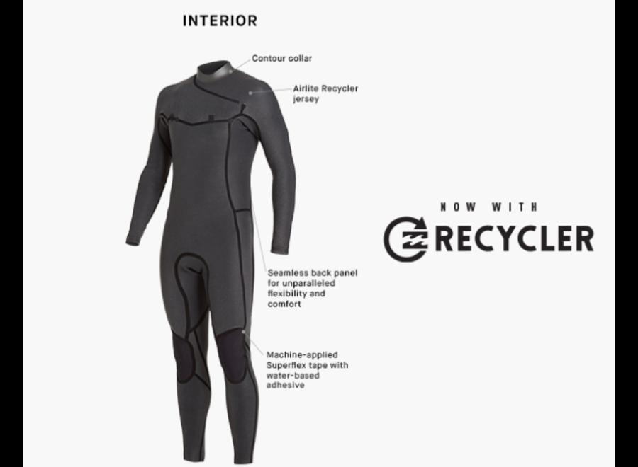 Billabong Furnace Revolution Pro 3/2 Heren Zomer Wetsuit Black