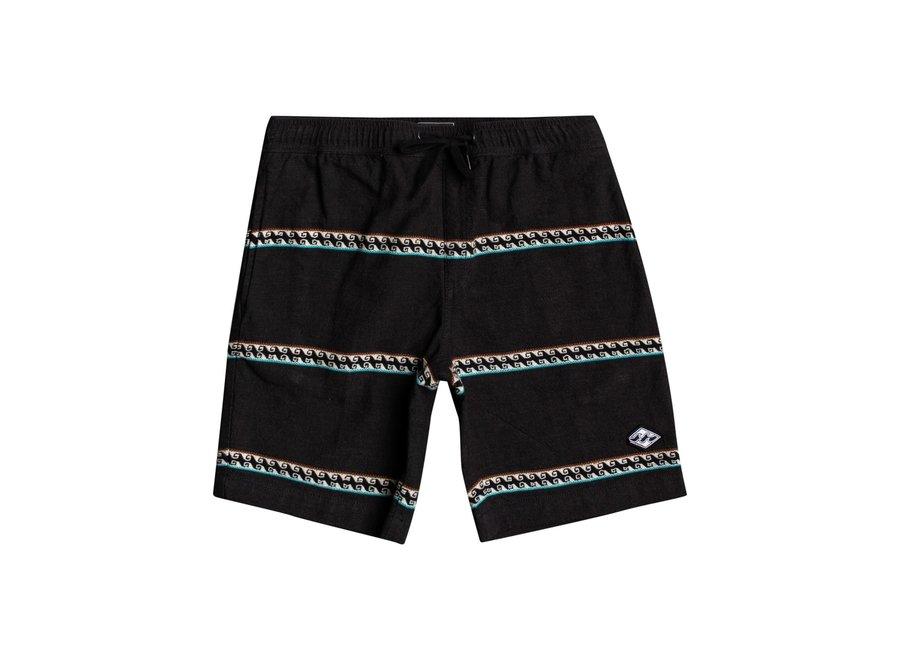 Billabong Kinder Larry Jacquard Shorts Black