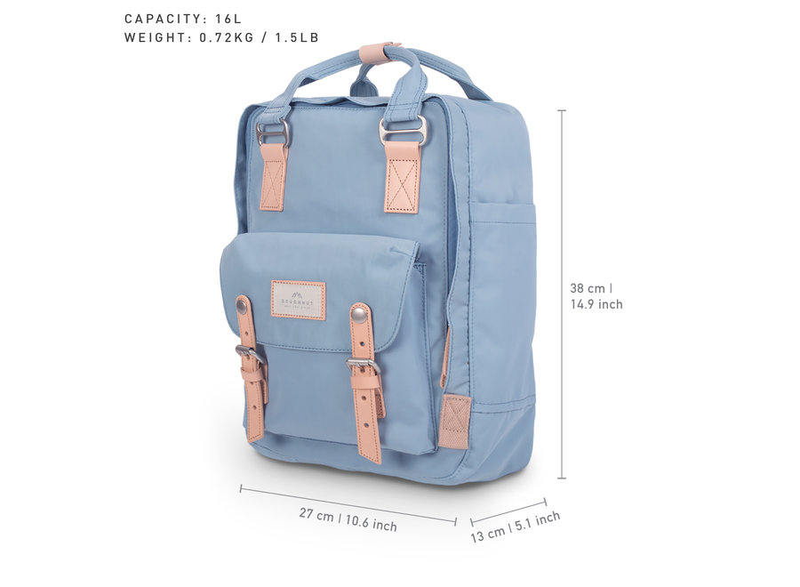 Doughnut Macaroon Backpack Light Blue