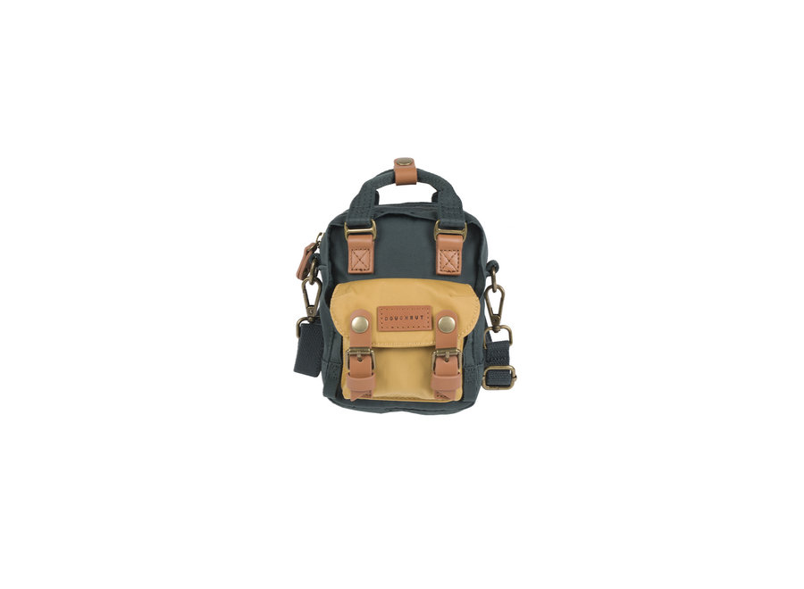 Doughnut Macaroon Tiny Backpack Slate Green x Yellow
