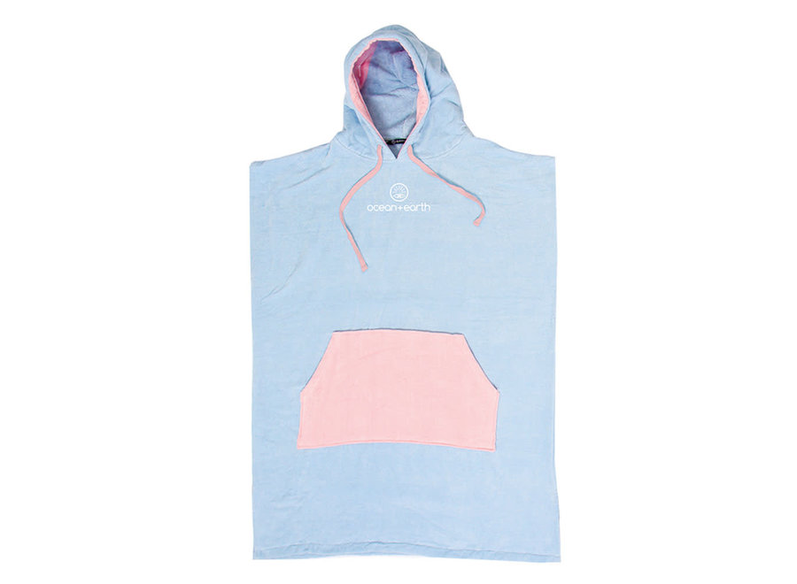 OCEAN & EARTH Ladies Day Dream Hooded Poncho – Pale Blue