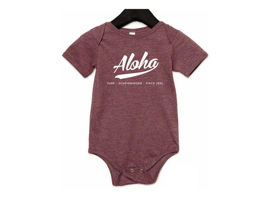 Aloha Baby Romper Purple
