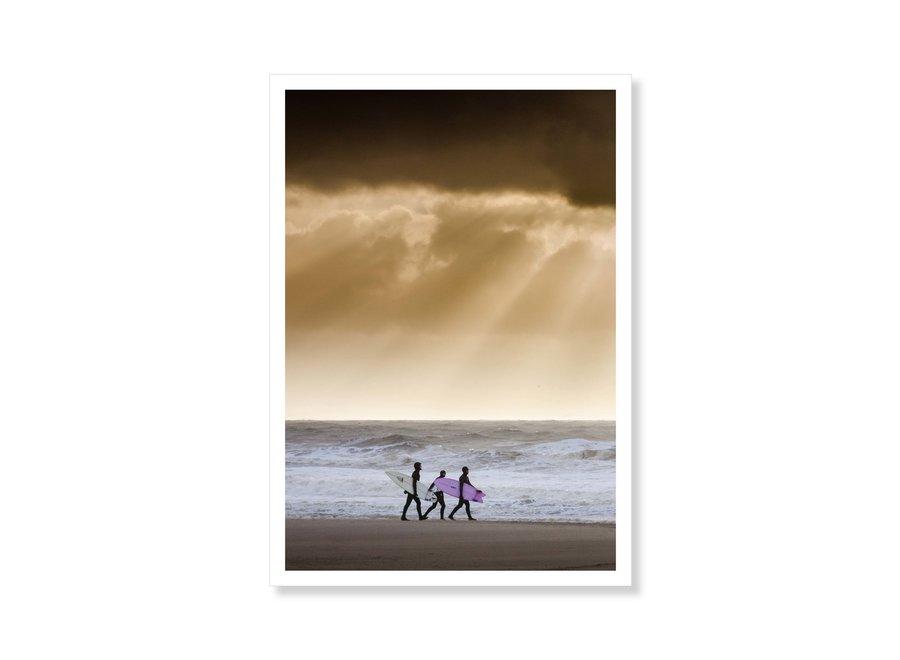 Jop Hermans Surfing With Friends Postcard