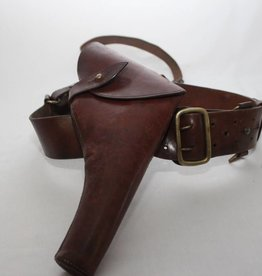 SAM BROWNE WEBLEY HOLSTER & BELT.