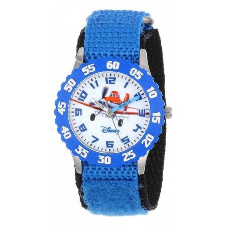 Disney Planes Fire & Rescue - Roestvrij stalen horloge met blauwe nylon band W000880