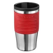 Thermoskan voor koffie of thee rood