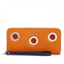 Dynah dames portemonnee met studs caramel-blauw