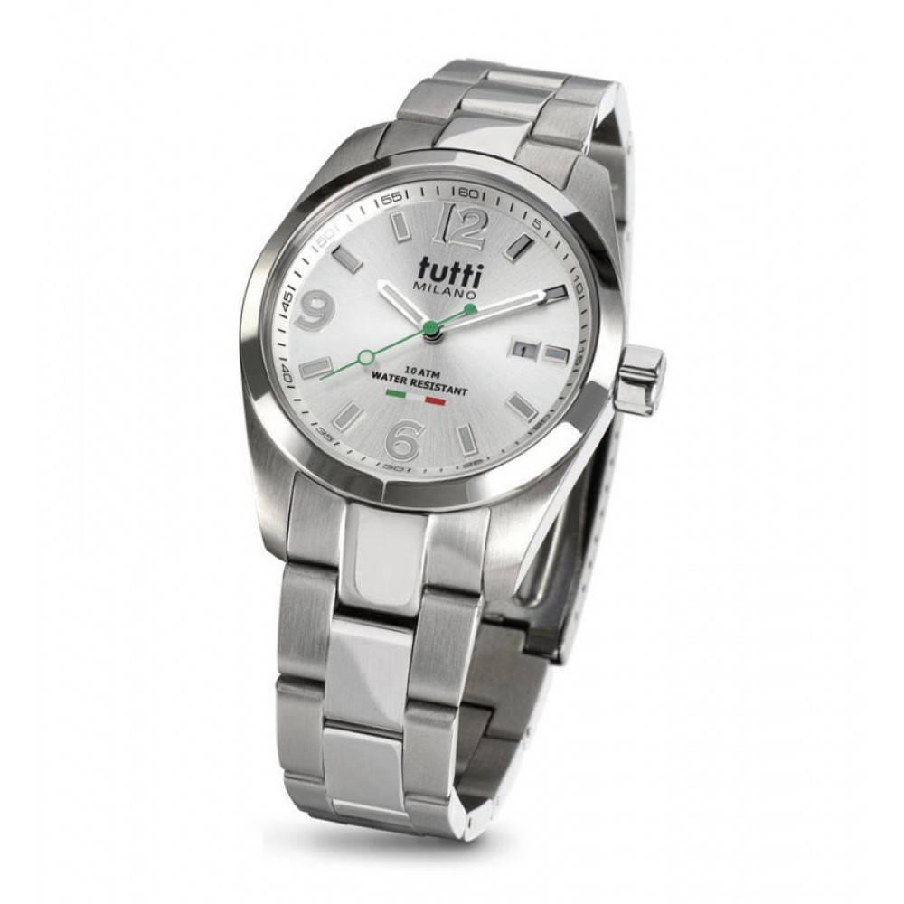 Tutti Milano Bacio Horloge zilver TM800 GY